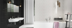 WHITE INSERTO FLOWER 25x75 Cersanit