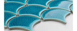 Mozaika Flabellum Blue Lagoon Raw Decor