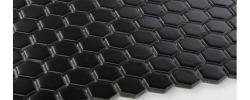 Mozaika Hexagon mały,czarny matowy Raw Decor