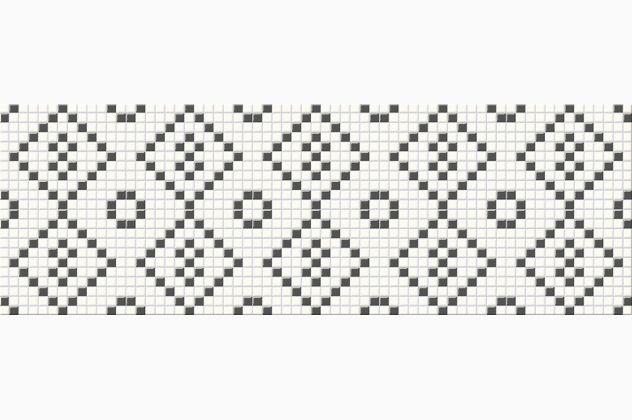 BLACK&WHITE MOSAIC 25X75 Cersanit