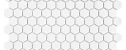 Mozaika Heksagon mały biały DUNIN