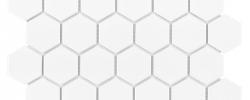 Mozaika Heksagon biały mat 51 DUNIN