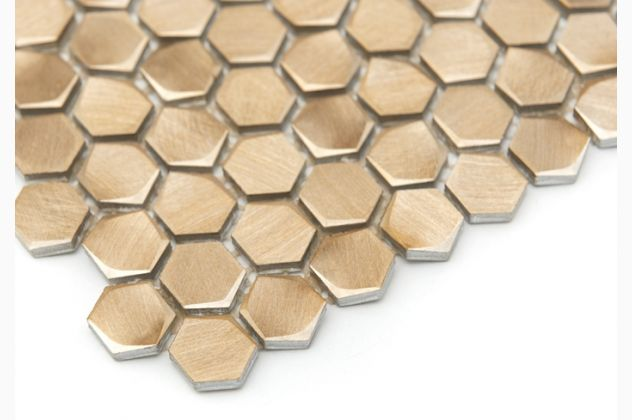 Mozaika Allumi Gold Hexagon DUNIN