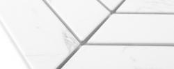 Mozaika Royal Chevron Carrara Matt DUNIN