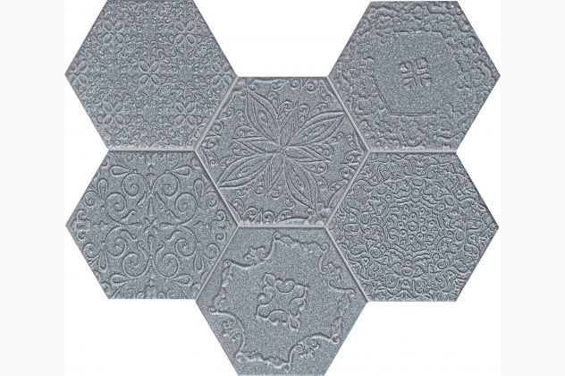 Mozaika Lace graphite Tubądzin