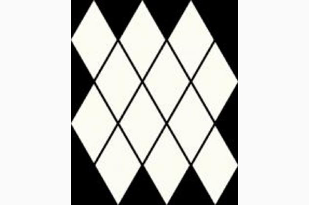Uniwersalna Mozaika Prasowana Bianco Romb Pillow 20,6x23,7 Paradyż