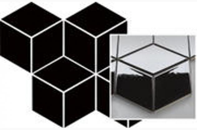 Uniwersalna Mozaika Prasowana Nero Romb Hexagon 20,4x23,8 Paradyż