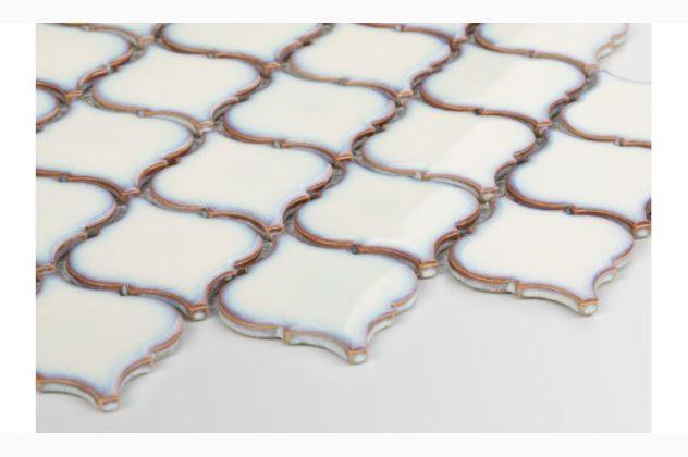 Mozaika Arabeska średnia, kremowa, szkliwiona Raw Decor