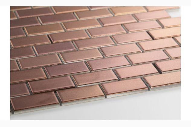 Mozaika Mini cegiełka METALLIC BRONZE, Raw Decor