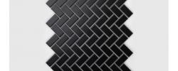 Mozaika Jodełka czarna, matowa Raw Decor