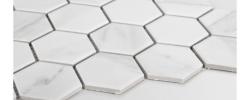 Mozaika Heksagon duży marble mat Raw Decor