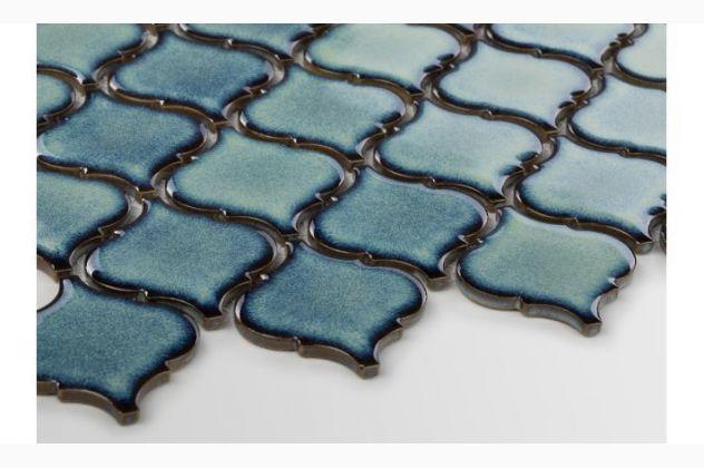 Mozaika Arabeska średnia szkliwiona  Adriatyk Raw Decor