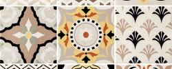 PROWANSJA PATCHWORK Dekor ścienny 9-elementowy Domino